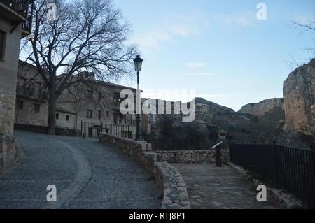 Wonderful Views Of The High Town In Alquezar. Landscapes, Nature, History, Architecture. December 28, 2014. Alquezar, Huesca, Aragon, Spain - Stock Photo