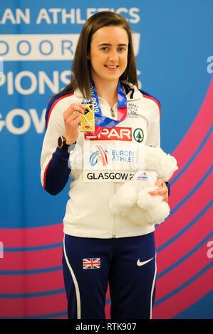 Glasgow, UK. 2nd March 2019. European Athletics Indoor Championships, Emirates Arena Glasgow. 2 March 2019. Credit: Nigel Bramley/Alamy Live News - Stock Photo
