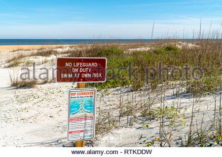 The beach at Anastasia State Park at St Augustine Beach, Florida USA - Stock Photo