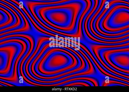 Abstract and futuristic 3D texture in red and blue colors