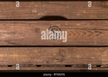 Rustic wood planks from an old wine box. - Stock Photo