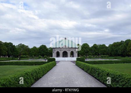 German, Munich - April 2018: Dianatempel - Park Hofgarten. Munich, German. - Stock Photo