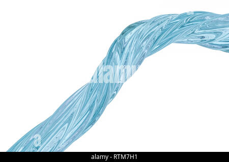 3d rendering, colorful transparent silk - Stock Photo