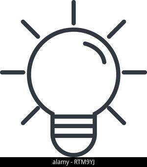 lightbulb idea cartoon - Stock Photo