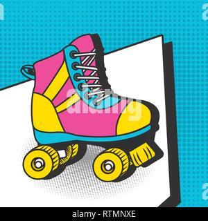 Pop art colorful cartoons - Stock Photo