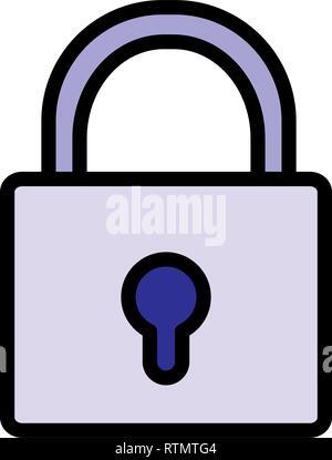 safe secure padlock icon vector illustration design - Stock Photo