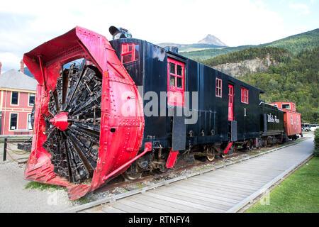 Snow-Removal Train in Skagway, Alaska, Klondike Gold Rush National Historical Park, USAskagway,alaska,usa,united states,pradeep subramanian - Stock Photo