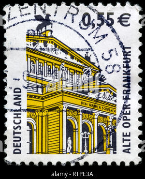 Postage stamp from the Federal Republic of Germany in the Sights series issued in 2002 - Stock Photo