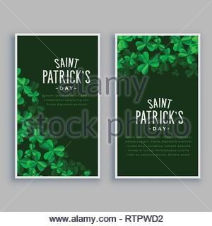 st. patricks day vertical banners set - Stock Photo
