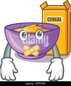 Silent cereal box isolated with the cartoons - Stock Photo