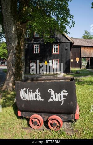 Grube Samson, Bergwerksmuseum, Sankt Andreasberg, Harz, Niedersachsen, Deutschland - Stock Photo
