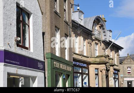 Commercial Street Lerwick, Shetland, Scotland - Stock Photo