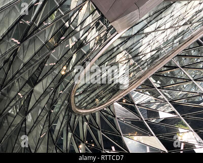 Glass Curtail Wall Parametric Design - Stock Photo