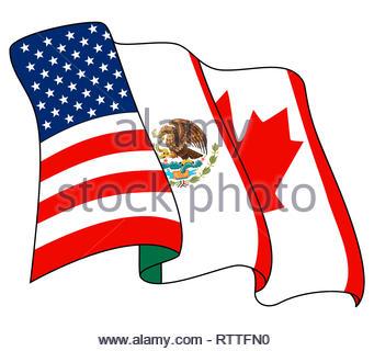 North American Free Trade Agreement NAFTA logo icon - Stock Photo