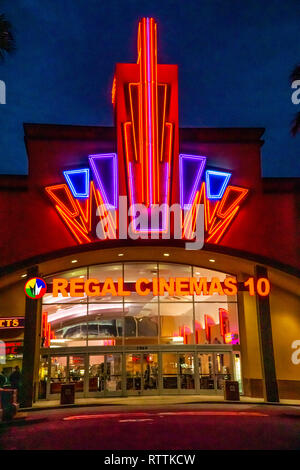 a regal cinema in modesto california at night stock photo alamy alamy