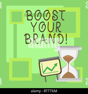 Handwriting text Boost Your Brand. Concept meaning improve your models name in your field overcome competitors - Stock Photo