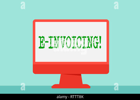 Writing note showing E Invoicing. Business photo showcasing Company encourages use of digital billing - Stock Photo