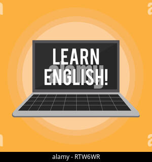 Text sign showing Learn English. Conceptual photo Study another Language Learn Something Foreign Communication - Stock Photo