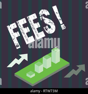 Handwriting text Fees. Concept meaning Online creative agency charges product components hourly costs - Stock Photo