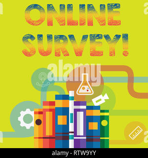 Handwriting text Online Survey. Concept meaning Digital Media Poll Customer Feedback Opinions Questionnaire - Stock Photo