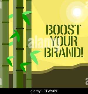 Handwriting text writing Boost Your Brand. Concept meaning improve your models name in your field overcome competitors - Stock Photo