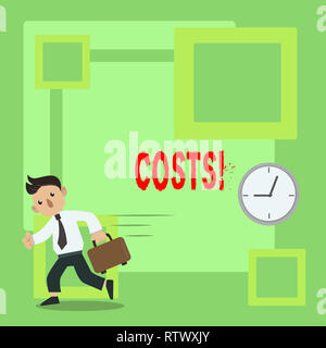 Handwriting text Costs. Concept meaning Finance department showcase the total production calculation - Stock Photo