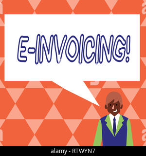 Handwriting text E Invoicing. Concept meaning Company encourages use of digital billing - Stock Photo