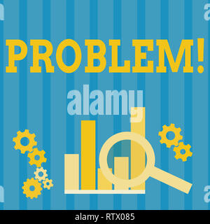 Handwriting text Problem. Concept meaning Trouble that need to be solved Difficult Situation Complication - Stock Photo