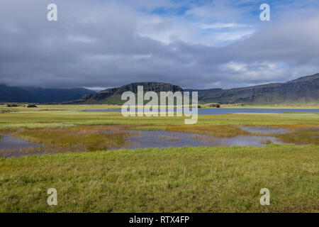 Landscape in southeast part of Iceland - Stock Photo