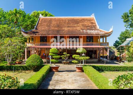 DAM BRI, VIETNAM - FEBRUARY 19, 2018: Secondary building of Tu Vien Bat Nha Buddhist temple in Dam Bri, Vietnam - Stock Photo