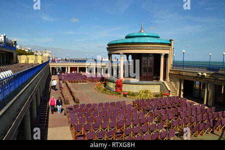 The Bandstand, Eastbourne, East Sussex, UK. Entertainment venue on the seafront - Stock Photo