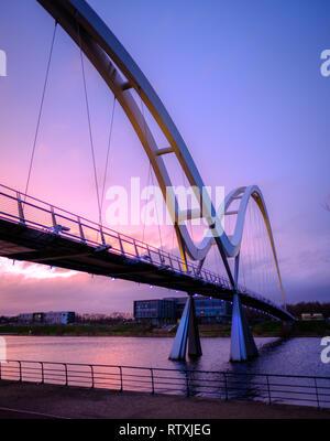 The Infinity Bridge, Stockton-on-Tees, Teesside - Stock Photo
