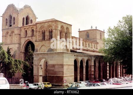 The Basilica of San Vicente, Avila, Spain - Stock Photo