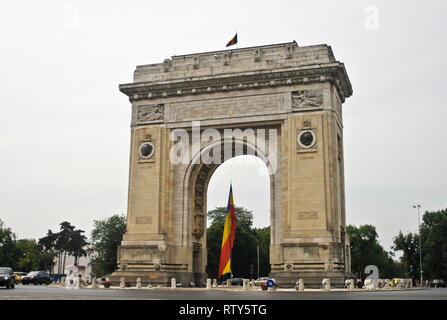 Arcul de Triumf (Triumph Arc), Bucharest, Romania - Stock Photo