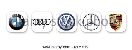 German Cars logo icon - Stock Photo