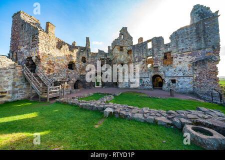Dirleton Castle in East Lothian , Scotland , UK Stock Photo