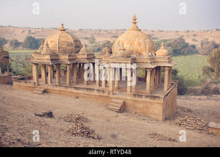 Bada Bagh, Jaisalmer, Rajasthan, India, Asia - Stock Photo