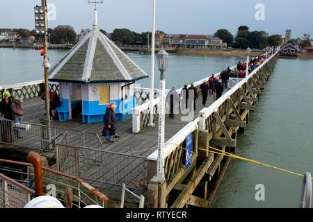 The Needles, view, south coast, Yarmouth, paddle steamer, PS, Waverley, on excursion, voyage, round, the , Isle of Wight, - Stock Photo
