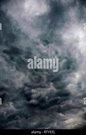 unusual, cloud, formation, rain, cumulous, dark, swirling, - Stock Photo