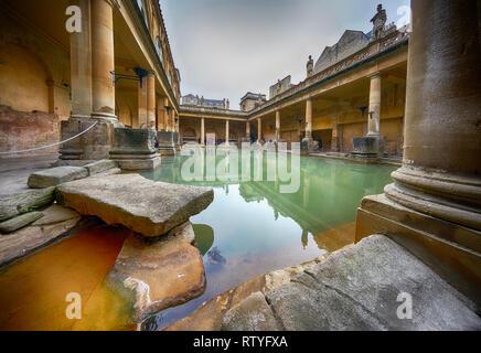 Roman Baths  ciity of bath - Stock Photo