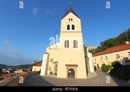 Slovakia - Trencin in Povazie region. Roman Catholic church. - Stock Photo