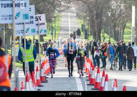 Edinburgh, Scotland, UK. 3rd March, 2019. Runners competing in the Edinburgh Meadows Marathon. Events include full marathon, half marathon, 10k, 5k and relay. Credit: Skully/Alamy Live News - Stock Photo