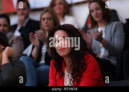Madrid, Spain. 03rd Mar, 2019. President of the Parliament of Andalusia, Marta Bosquet seen attending the act.  Cordon Press Credit: CORDON PRESS/Alamy Live News - Stock Photo