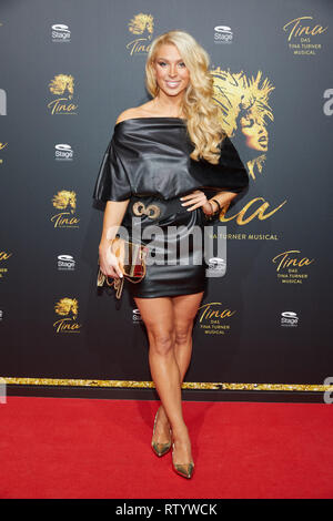 Hamburg, Germany. 03rd Mar, 2019. Aneta Sablik, singer, comes to the German premiere of the musical 'Tina - Das Tina Turner Musical' at the Operettenhaus. Credit: Georg Wendt/dpa/Alamy Live News - Stock Photo
