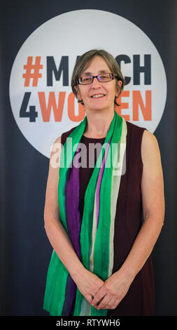 London, UK, 3rd Mar 2019. Helen Pankhurst March4Women is CARE International's annual month of action for gender equality. This year's London event is held at Central Hall, rather than as an outdoor rally, and features speeches, debate and musical performances from celebrity supporters. Credit: Imageplotter/Alamy Live News - Stock Photo