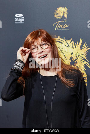 Hamburg, Germany. 03rd Mar, 2019. Katja Ebstein, singer, comes to the German premiere of the musical 'Tina - Das Tina Turner Musical' at the Operettenhaus. Credit: Georg Wendt/dpa/Alamy Live News - Stock Photo