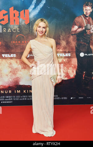 Berlin, Germany. 03rd Mar, 2019. Actress Julia Dietze on the red carpet of the film premiere 'Iron Sky: The Coming Race'. Dietze is the leading actress. Credit: Annette Riedl/dpa/Alamy Live News - Stock Photo