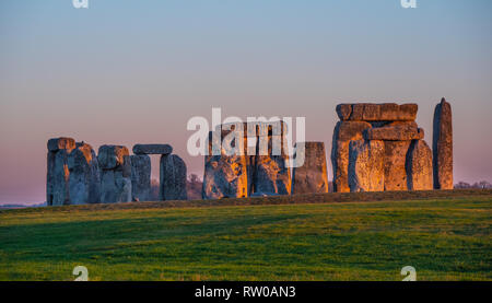 The mystery of Stonehenge in England - Stock Photo