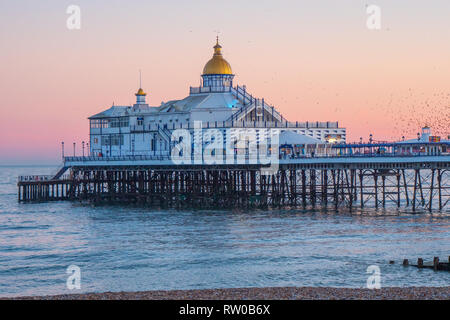 Beautiful Eastbourne Pier in the evening - Stock Photo