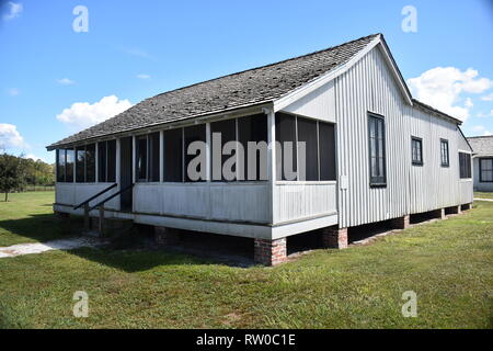 1800s house in Shingle Creek Pioneer Village. Kissimmee, Florida, USA - Stock Photo